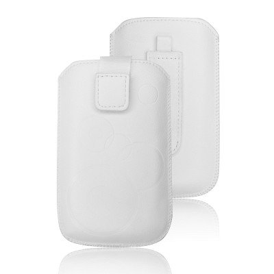 CUSTODIA  FORCELL DEKO - IPHONE 3G/4G/4S/S5830 GALAXY ACE/ S6310 YOUNG – BIANCO