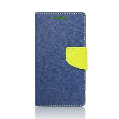 FANCY DIARY CASE MERCURY  Sam GALAXY A3 2016 (A310)  BLU-LIME  (NAVY/LIME)