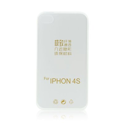 BACK CASE Ultra Slim 0,3mm - APP IPHO 4G/4S trasparente