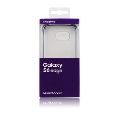 Original Clear Cover (posteriore)  Samsung Galaxy  EF-QG925BB Samsung Galaxy S6 EDGE (SM-G925)  nero