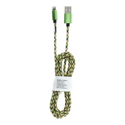 Cavo USB per iPhone Lightning 8-pin Nylon C246 2 m verde