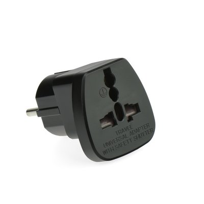 ADATTATORE AC [SPINA PL/EU PRESA - UK/USA] NERO QZ36-9