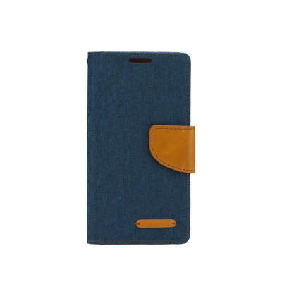 Canvas Book case - APP IPHO 5/5S/SE blu scuro