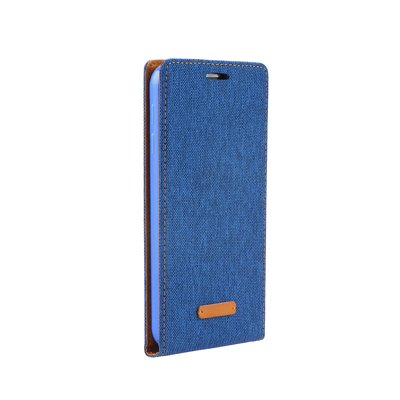 Flip Case Canvas Flexi Huawei Y6 II (Y6-2) , Honor 5a azzurro