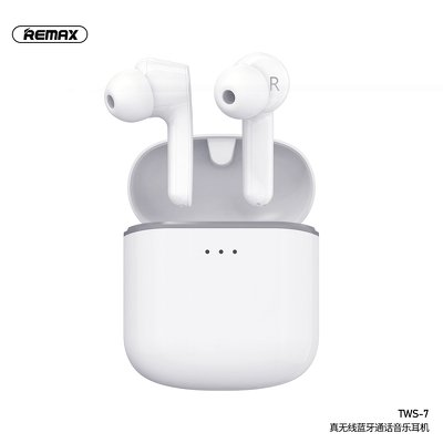 Cuffie bluetooth REMAX TWS-7 con power bank bianco