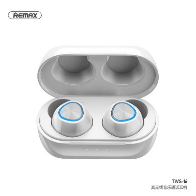 Cuffie bluetooth REMAX TWS-16 con power bank bianco