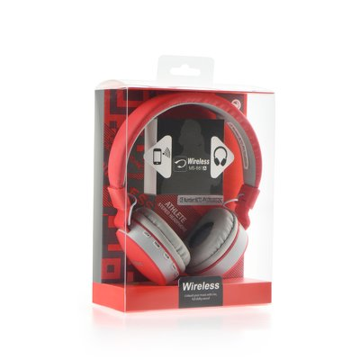 Cuffie Bluetooth stereo MS-881 rosso