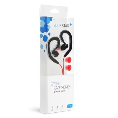 HF Blue Star Sport SP80 Universale 3,5 mm nero/rosso
