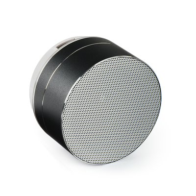 Altoparlante multimediale mini OVAL nero ((bluetooth / microfono / radio FM / carta SD / AUX / USB)