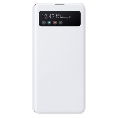 Originale S-View Wallet Cover EF-EA415PWEGEU Samsung Galaxy A41 bianco blister