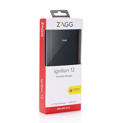 Power Bank ZAGG IFIG-BK0 Dual USB 12000  mAh nero