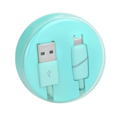 Cavo USB Apple Iphone,Ipad-Lightning  BOX Ring menta