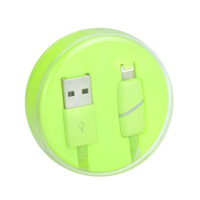 Cavo USB Apple Iphone,Ipad-Lightning  BOX Ring limone