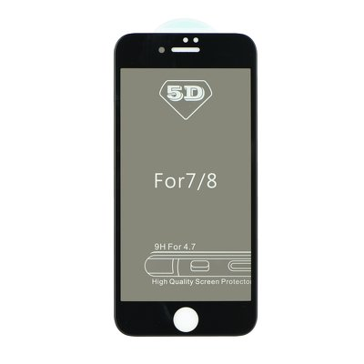 5D Full Glue Tempered Glass - APP IPHO X / XS Privacy nero