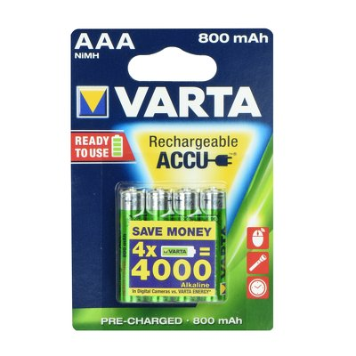 Accumulatori VARTA R3 800 mAh (promo 3+1) ready 2 use