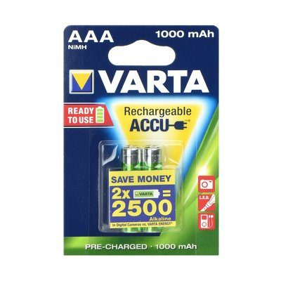 VARTA  Accumulator R3 1000 mAH (AAA) 2 pz ready to use