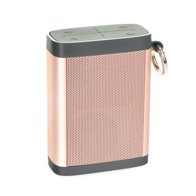 Altoparlante BLUETOOTH 3W  (bluetooth / mikrofon / radio FM / card reader SD / AUX ) metallico rose