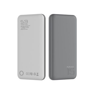 POWER BANK PURIDEA S3 15 000mAh grigio