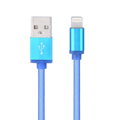 Cavo USB metallo NEW - Apple Iphone, Ipad - Lightning azzurro