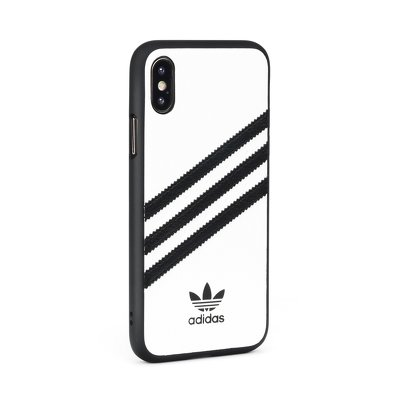 Custodia originale stampata in PU ADIDAS SAM S10 PLUS bianca e nera