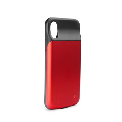 POWER BANK 3000 mAh con custodia per Apple Ipho X/Xs rosso