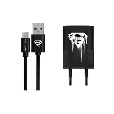 Charger with licence Batman Type C + cable black 002