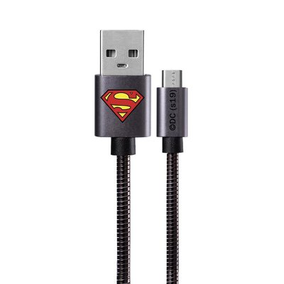 Cable Micro licence Metal Superman black 002