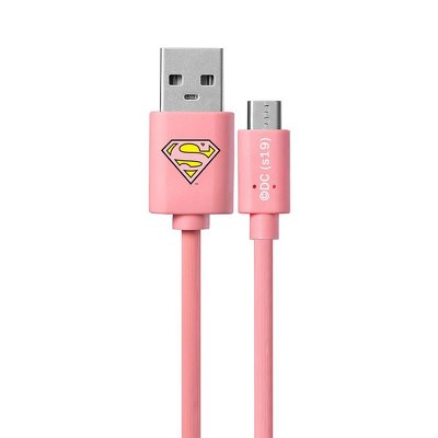 Cable Micro licence Superman pink 002