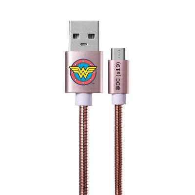 Cable Micro licence Metal Wonder Woman rose-gold 002