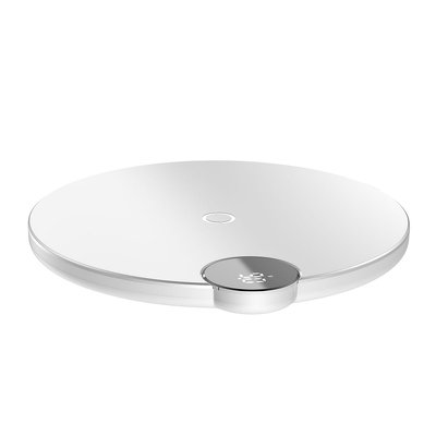 Caricabatterie wireless BASEUS Display digitale a LED bianco