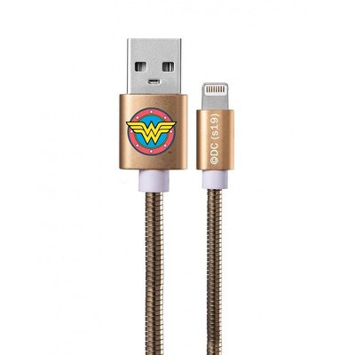 Cavo con licenza Lightning Metal Wonder Woman oro 002