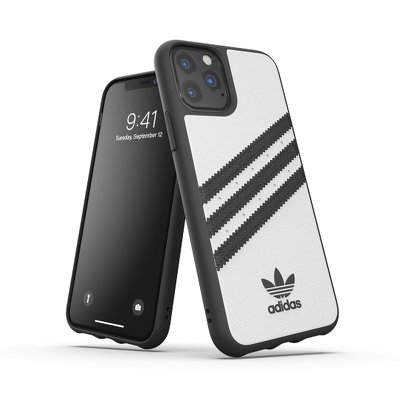 Futerał ADIDAS Originals Moulded Case PU do iPhone 11 PRO ( 5.8 ) biało / czarny