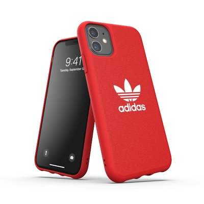 Futerał ADIDAS Originals Moulded Case CANVAS do iPhone 11 ( 6.1 ) scarlet