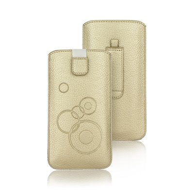 CUSTODIA  FORCELL DEKO - IPHONE 5/5S/5SE/5C - gold