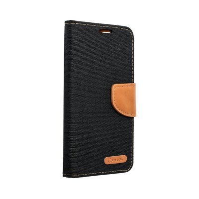Canvas Book case per APPPLE IPHONE 12 nero