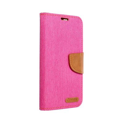 Canvas Book case per APPPLE IPHONE 12 PRO / 12 MAX rosa